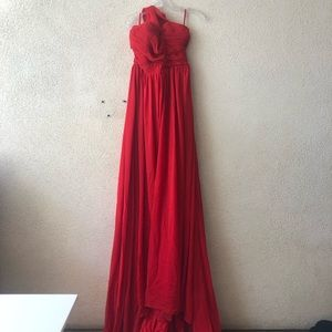 Light In The Box Gown Red Long Maxi One Shoulder